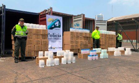 En operación transnacional, fueron incautadas mercancías de aseo personal avaluadas en más de 8,5 millones de dólares