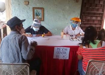 El equipo de Carrizal Contigo atendió a un promedio de 100 familias en la comunidad de Santa Isabel