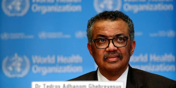 Director General of the World Health Organization (WHO) Tedros Adhanom Ghebreyesus speaks during a news conference on the situation of the coronavirus (COVID-2019), in Geneva, Switzerland, February 28, 2020. REUTERS/Denis Balibouse