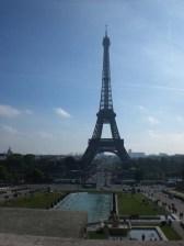 A vista após os Jardins do Trocadero