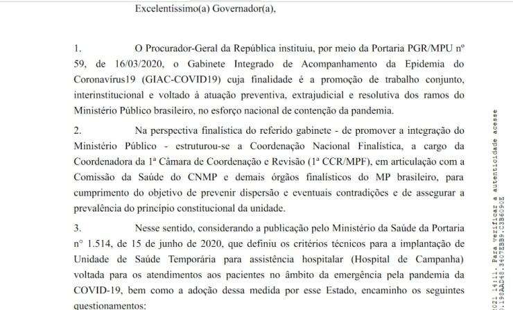 MPF questiona Governo do Piauí sobre hospitais de campanha