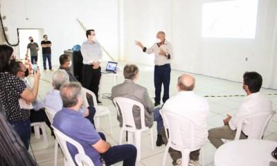 Dr. Pessoa visita obra do prédio da Strans e conhece o Projeto CCO