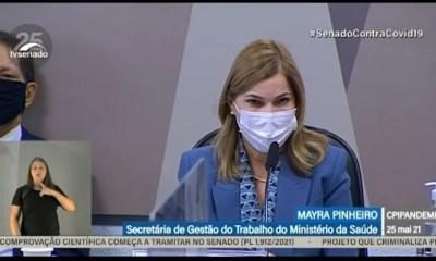 Secretária do Ministério da Saúde depõe na CPI Covid; veja ao vivo