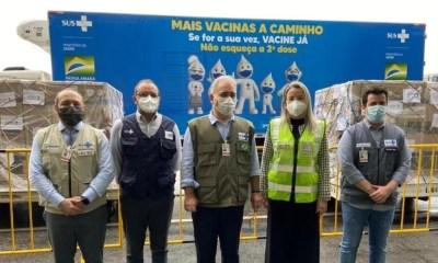 Brasil recebe lote com 1,5 milhão de doses da vacina da Janssen
