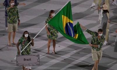 Brasil evita aglomeração em cerimônia das Olimpíadas
