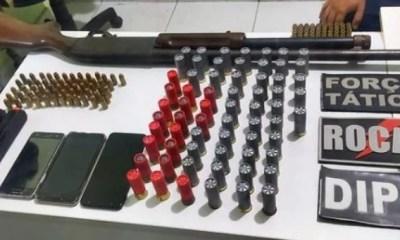 Polícia Militar apreende armas e munições em Parnaíba