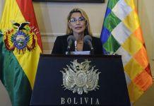 La presidenta interina Jeanine Áñez (Foto fuente externa).