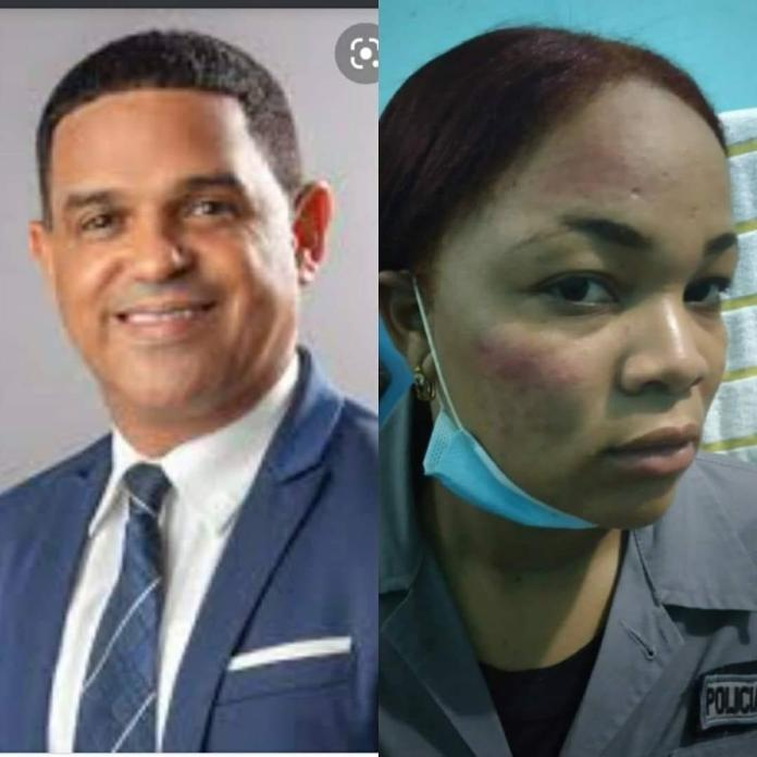 Diputado del PRM acusado de agredir a una agente policial durante toque de queda. FUENTE EXTERNA.