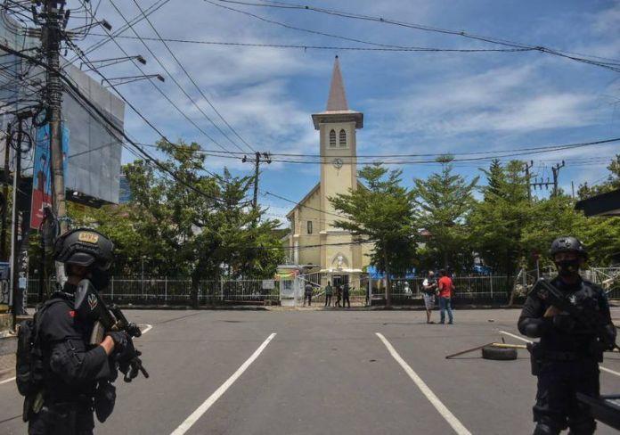 Atentado contra catedral en Domingo de Ramos deja al menos 14 heridos. FUENTE EXTERNA