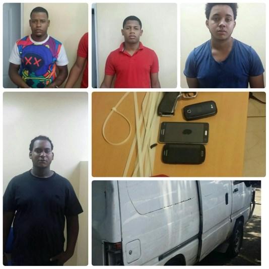 ladrones atrapado por la policia