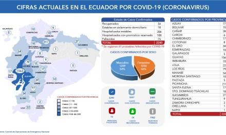 274 casos confirmados y 13 fallecidos  por Covid-19 se suman a las estadísticas