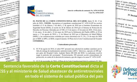 La Corte Constitucional  dispone el abastecimiento de antirretrovirales
