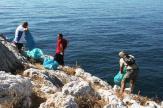 VOLUNTARIOS DURANTE LAS TAREAS DE LIMPIEZA PIEDRAS DE PESCA EN PUNTA DE LA MONA 16 (6)