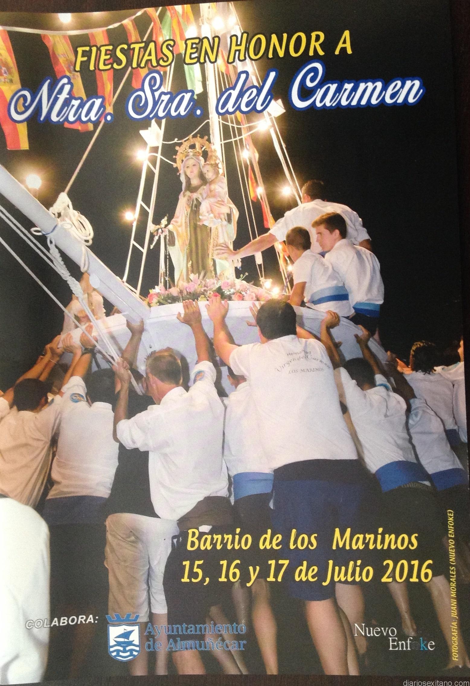 CARTEL FIESTAS DEL CARMEN LOS MARINOS ALMUÑECAR 16