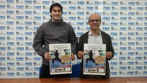 MIGUEL RIVAS Y LUIS ARAGON EN LA PRESENTACION DEL CAMPEONATO DE KENPO INFANTIL 17