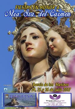 CARTEL FIESTAS VIRGEN DEL CARMEN LOS MARINOS ALMUÑECAR 17
