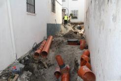 Nuevas redes de abastecimiento y saneamiento en calle San Joquin 18