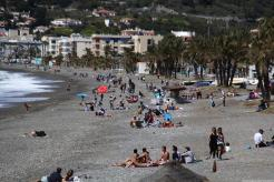 Playa La Herradura hoy Sabado Santo 18