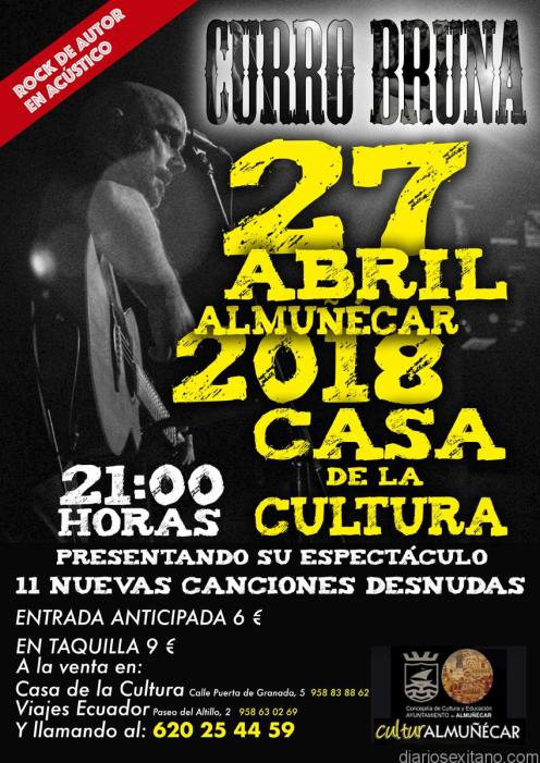 27 ABRIL CONCIERTO MUSICAL DE CURRO BRUNA ALMUÑECAR