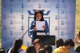 MARIA DEL CARMEN REINOSO DURANTE SU INTERVENCION EN EL ACTO 19