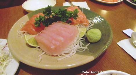 Sashimi coreano no Bom Retiro