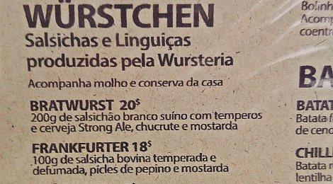 Wursteria, a casa dos embutidos artesanais na Tijuca