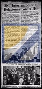OFI rompe relaciones con AUF en 1965