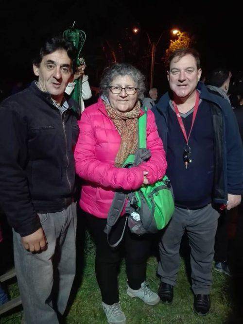 En la foto para Diario Uruguay, el Concejal Jorge Fernández, la Concejala Patricia Lazagal y el Alcalde Barros Blancos Julián Rocha.