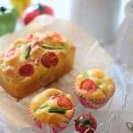 ホシノ酵母の「ケークサレ」夏野菜たっぷりです(お菓子コースS4)