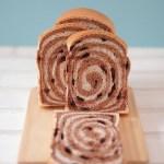 「うずまき食パン」「マーブルブレッド」「ミルク食パン」ココア味で焼きました