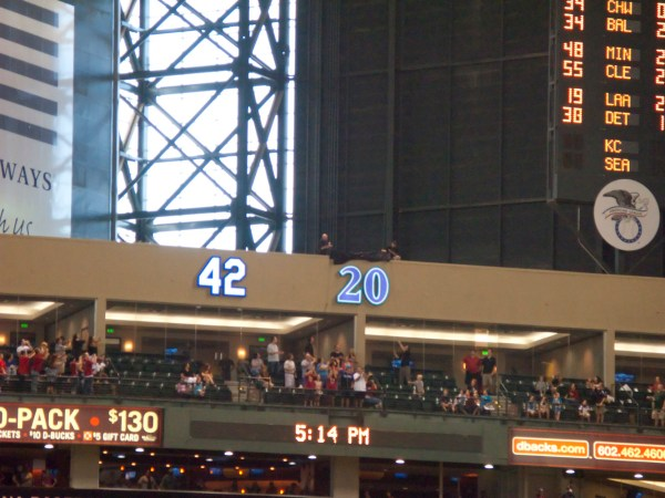 Retired Number 42 Chase Field Diary Of Diehard