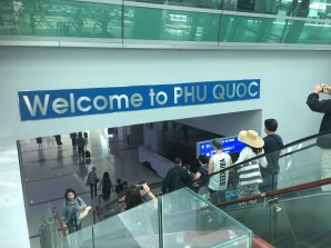 Image of the welcome sign at the Phu Quoc airport