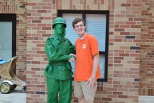 "Stephen with a ""plastic"" Army man"