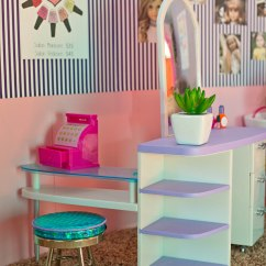 Pink Salon Styling Chair Princess Potty Creating Collapsible Doll Rooms Part 2  Diary Of A