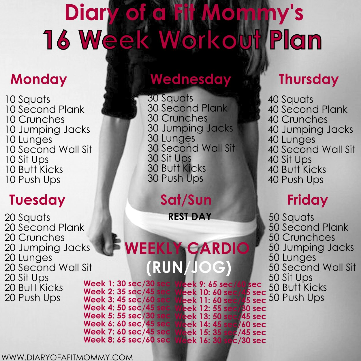 4 Week Fitness Plan Worksheet