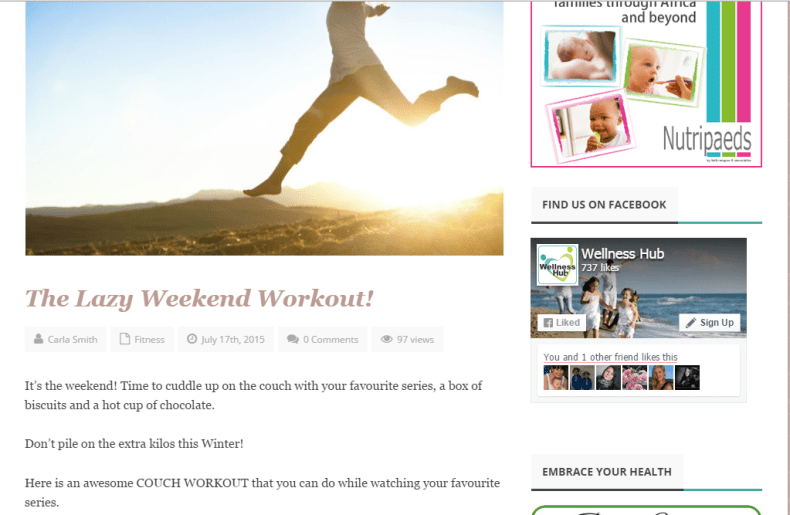 The Lazy Weekend Workout