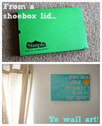 Shoebox Lid To Wall Art | Diary of a Mad Crafter