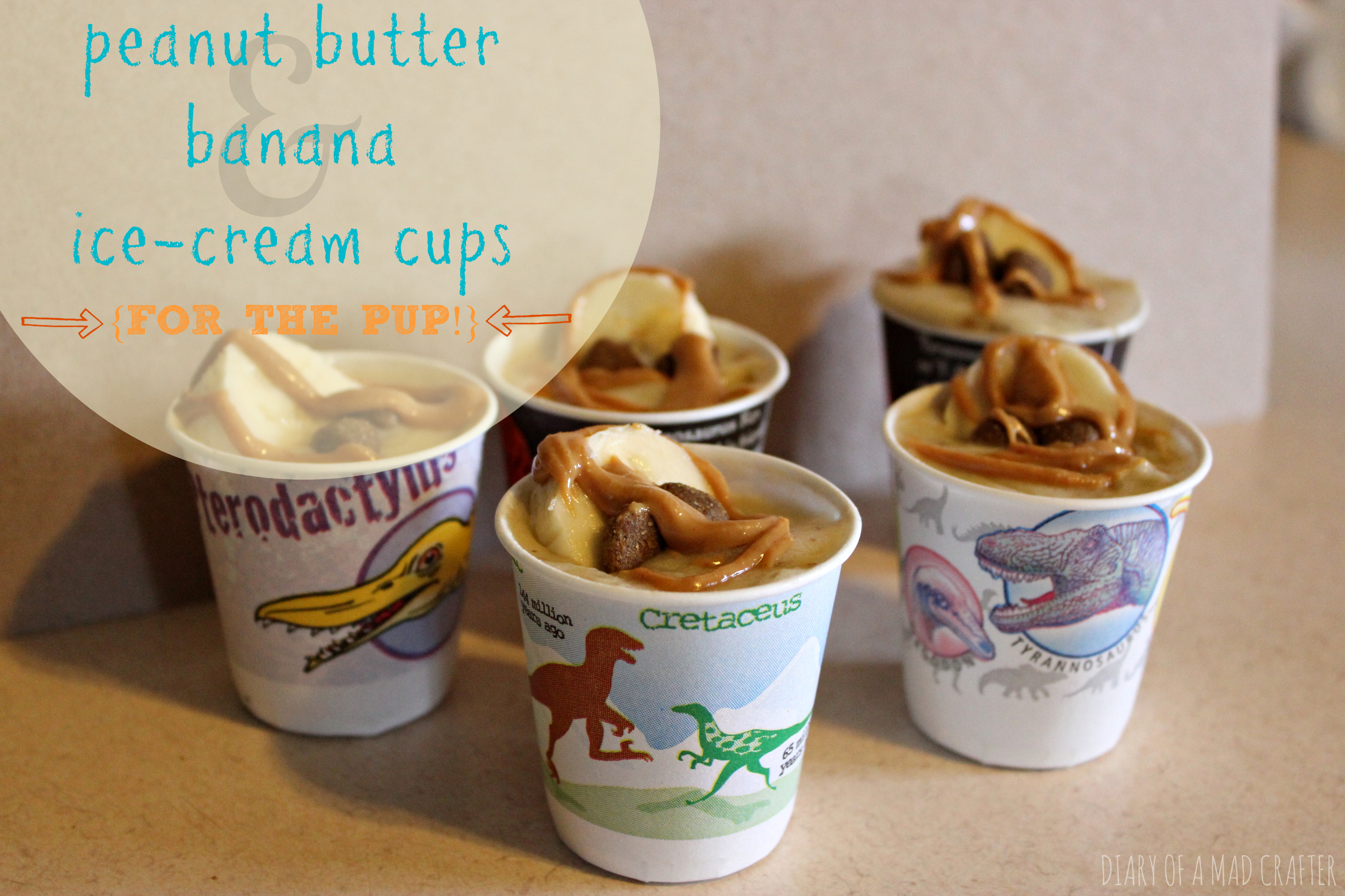 Peanut Butter  Banana Doggie Ice Cream Cups  Diary of a Mad Crafter