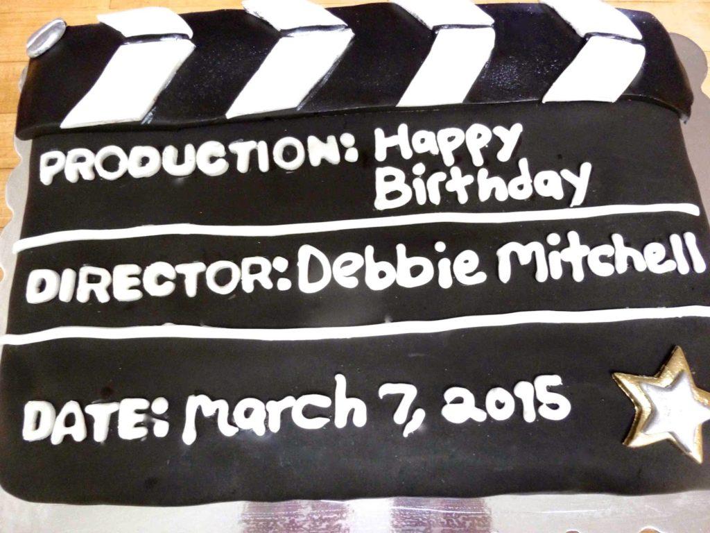 Sensational Movie Slate Birthday Cake Diary Of A Mad Hausfrau Funny Birthday Cards Online Alyptdamsfinfo