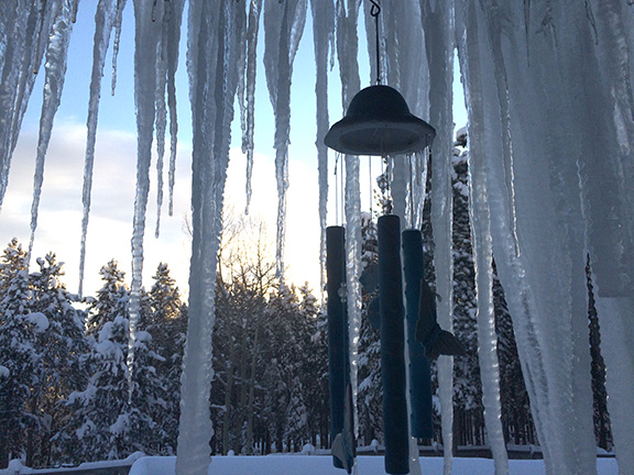 icicles and wind chimes
