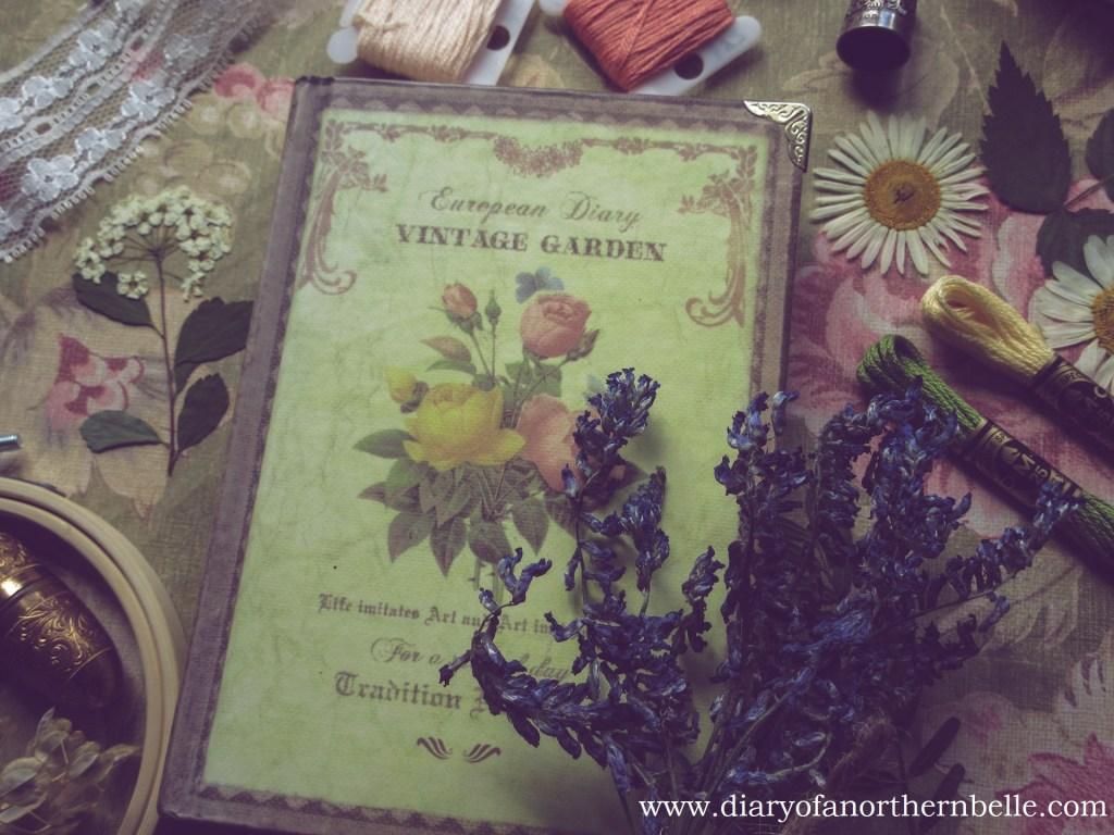 european vintage garden and dried cow vetch bouquet