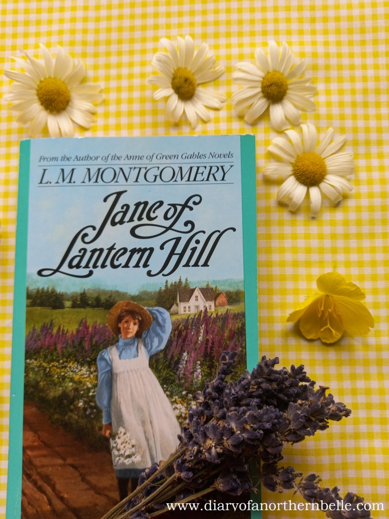 Jane of Lantern Hill book copy with dried lavender and daisies