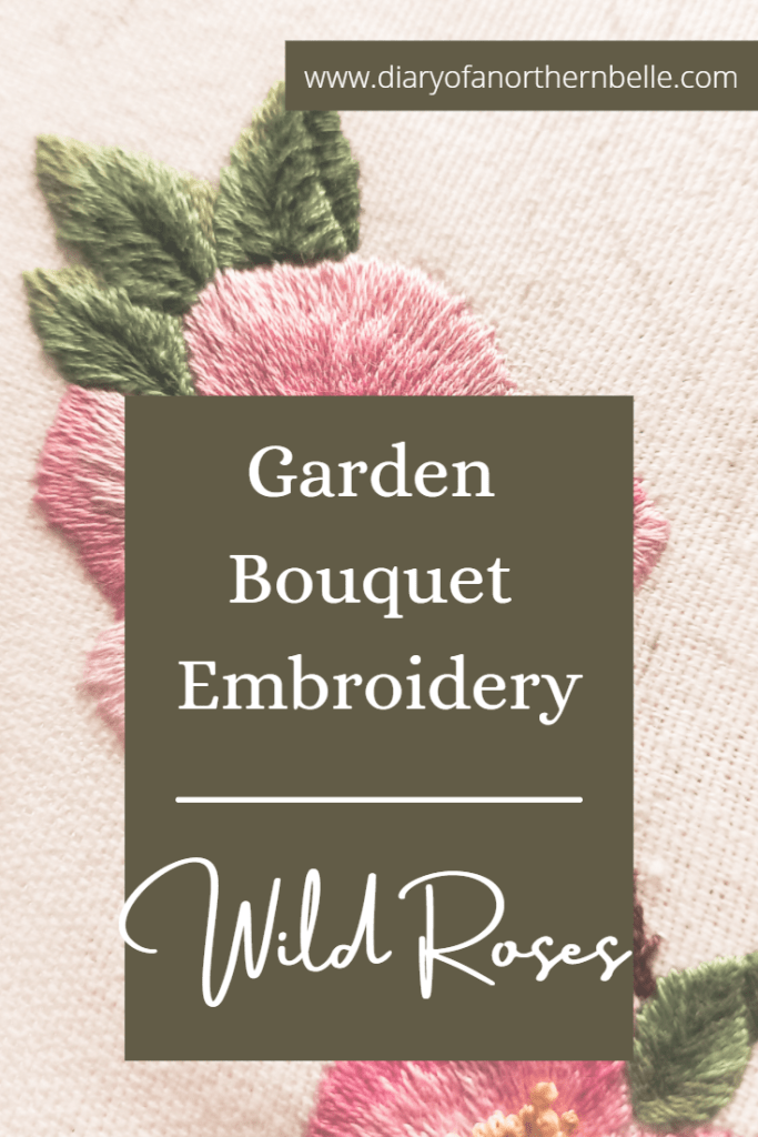 garden bouquet embroidery: wild roses