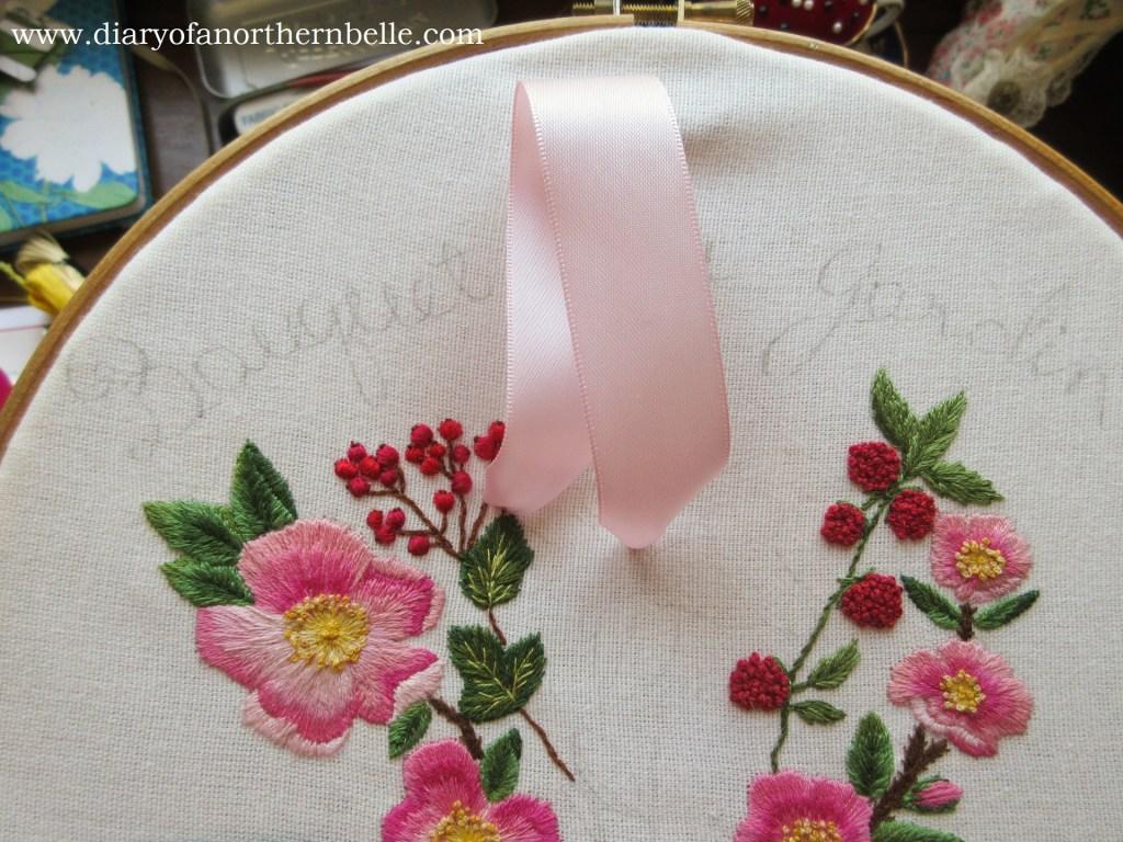 single straight stitch to form a lily petal