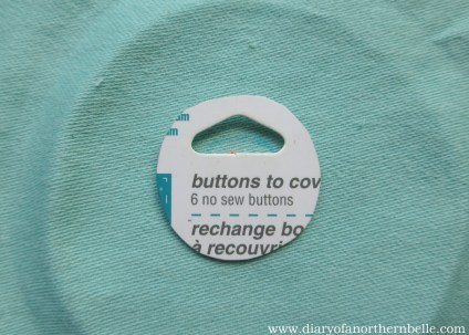 place the circle template over your embroidery to cut seam allowance