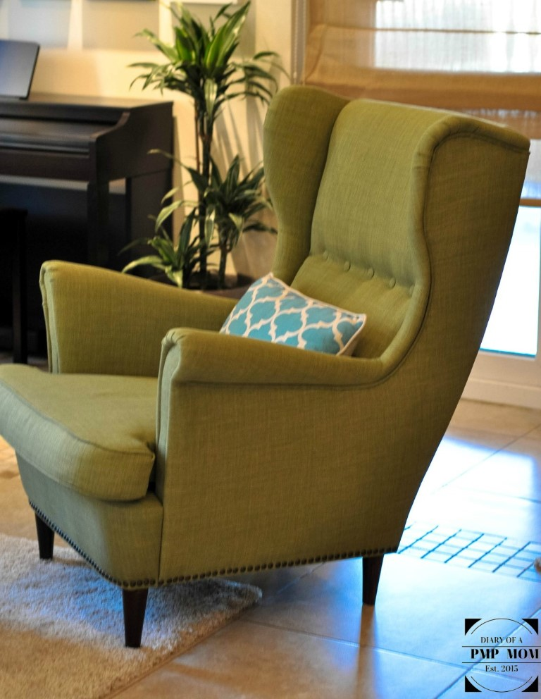 strandmon wing chair review bungee academy ikea hack diary of a pmp mom 2015 11 06 01 21 57