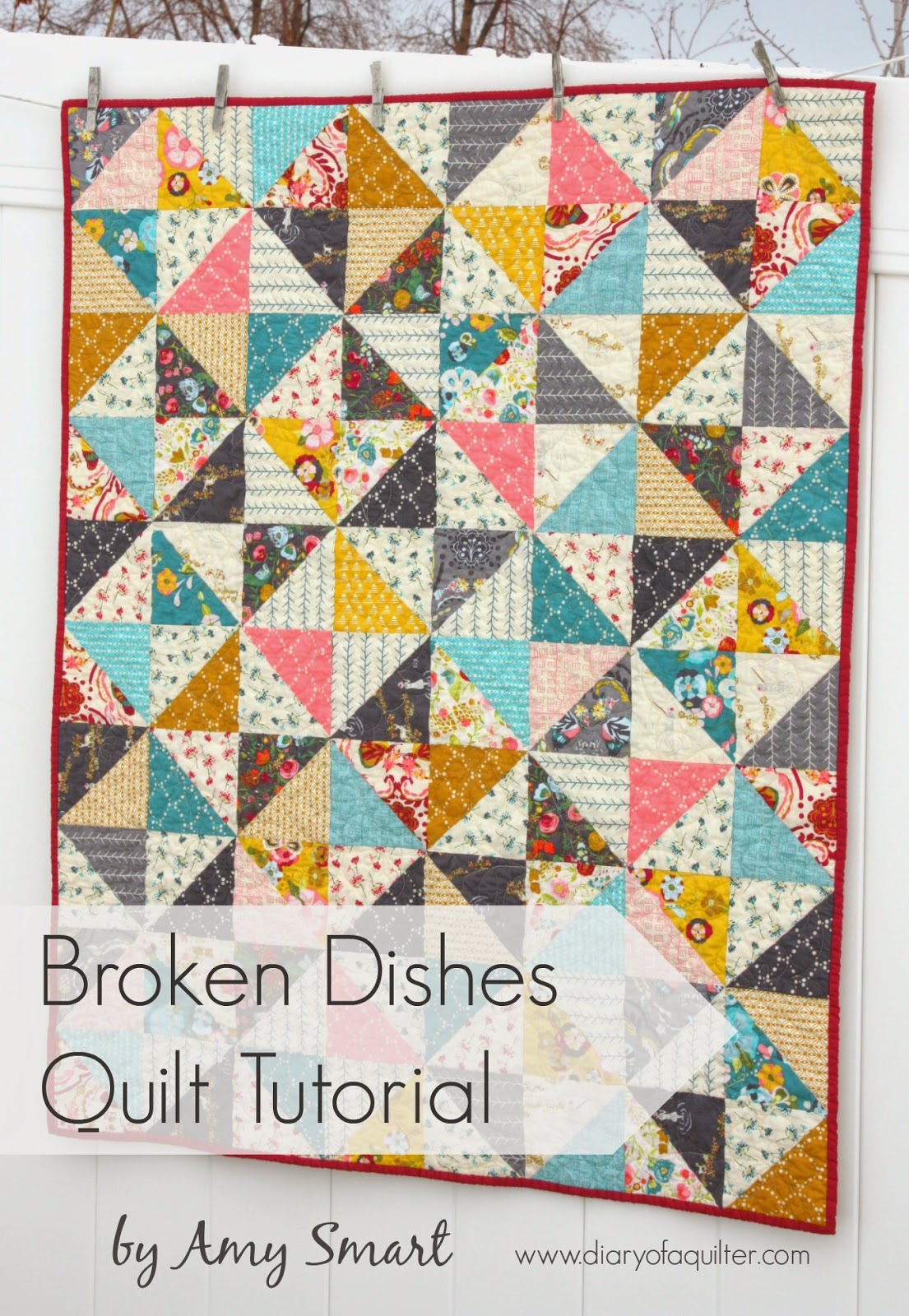 Half Square Triangle Baby Quilt Pattern,Strawberry Wine Song