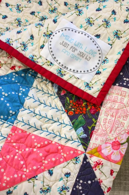 How to add a label to a quilt