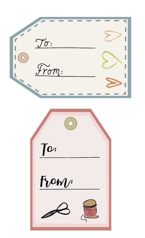 Screen Shot 2019-10-28 at 11.05.33 PM | Free Printable Quilt Care Instructions + Gift Tags by popular Utah quilting blog, Diary of a Quilter: image of printable gift tags.