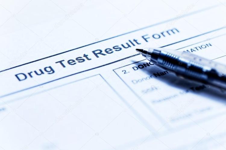 drug test sheet of paper